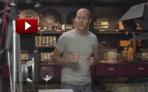 Wine glass resonance in slow motion